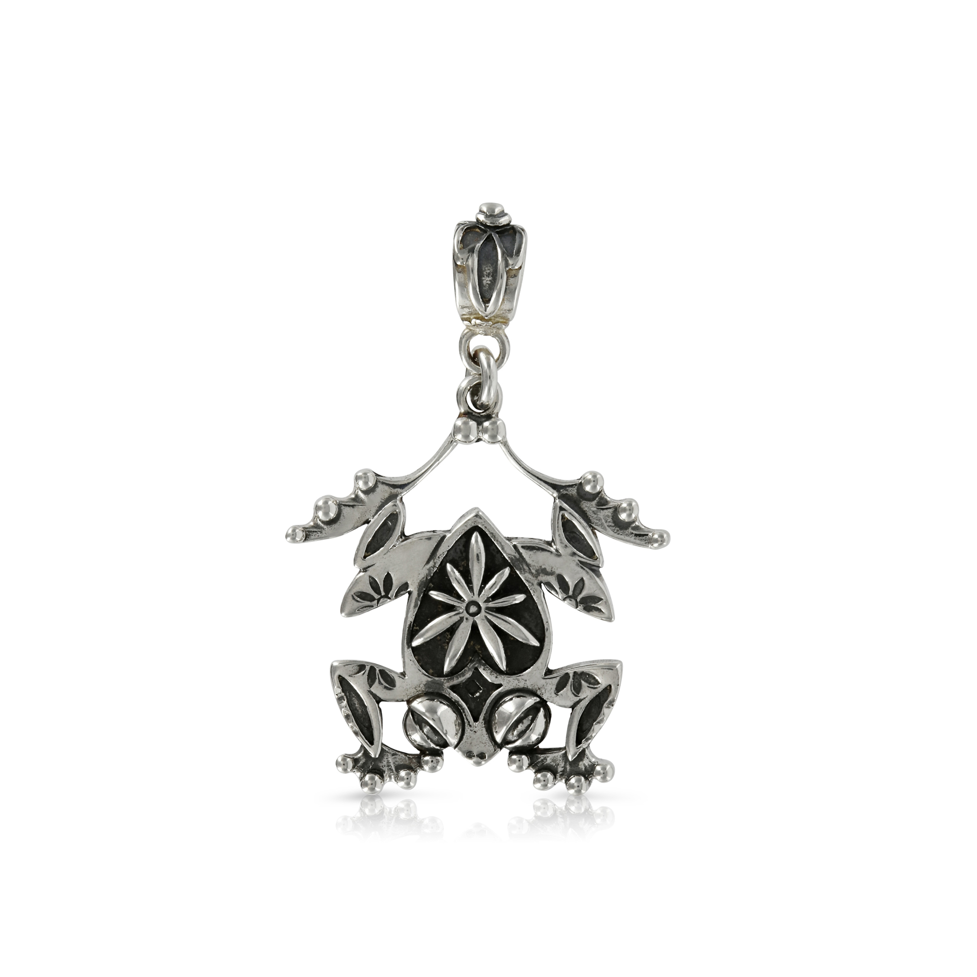 Silver frog pendant prey jewellery silver frog pendant by prey jewellery mozeypictures Image collections