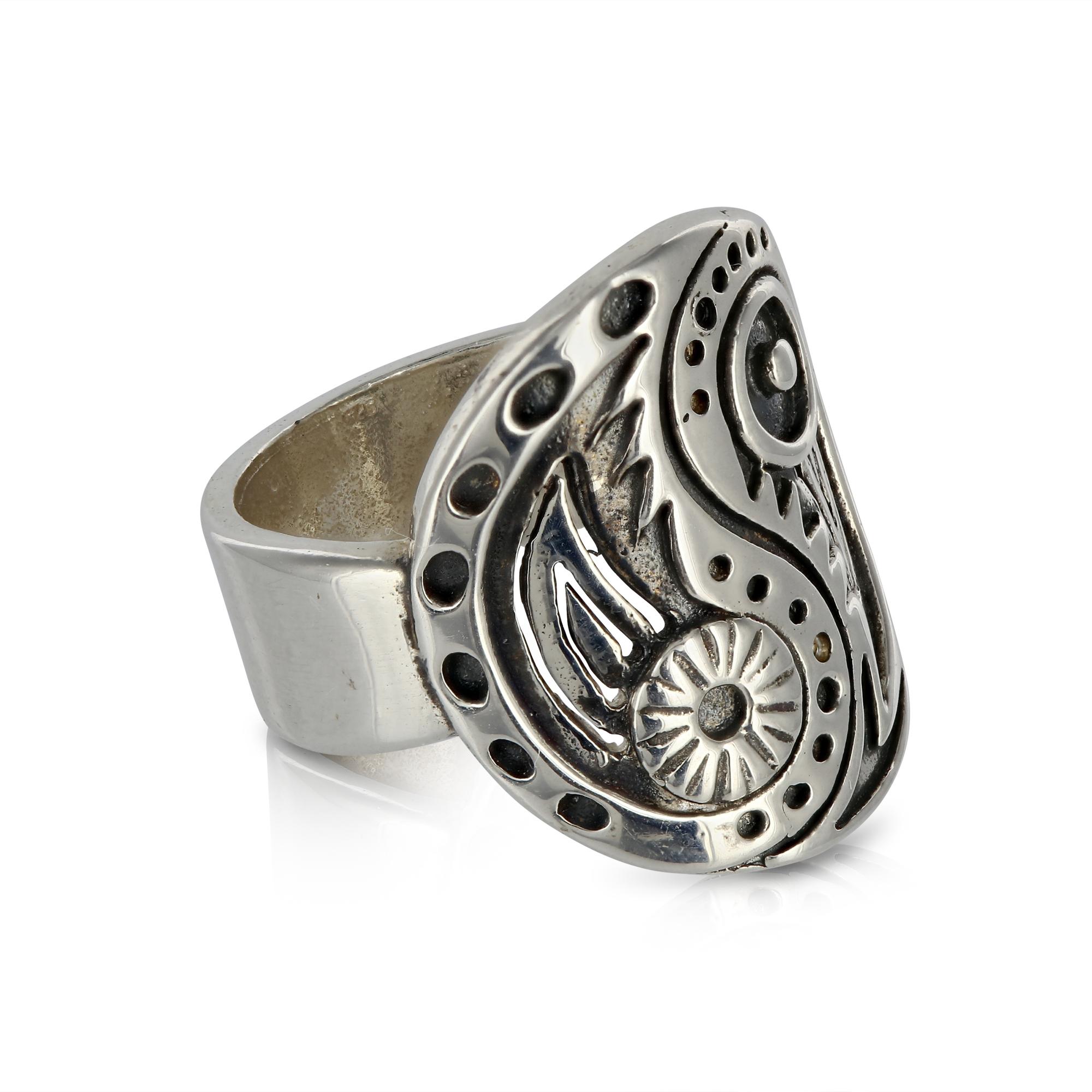 Silver Yin Yang Ring