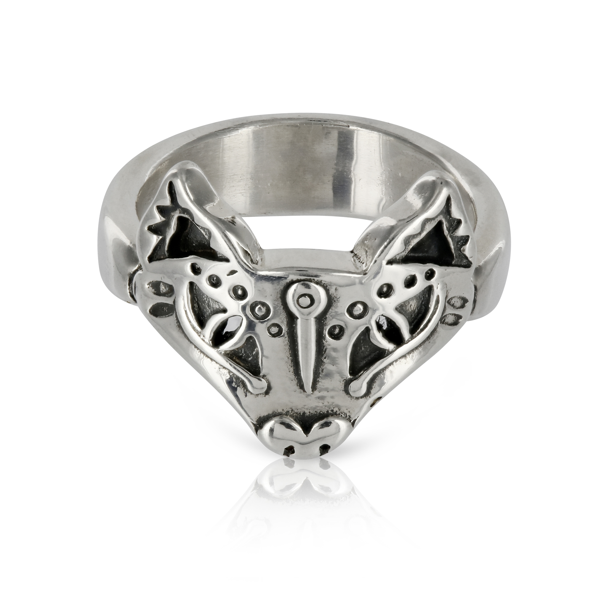 Silver Fox Ring by Prey Jewellery