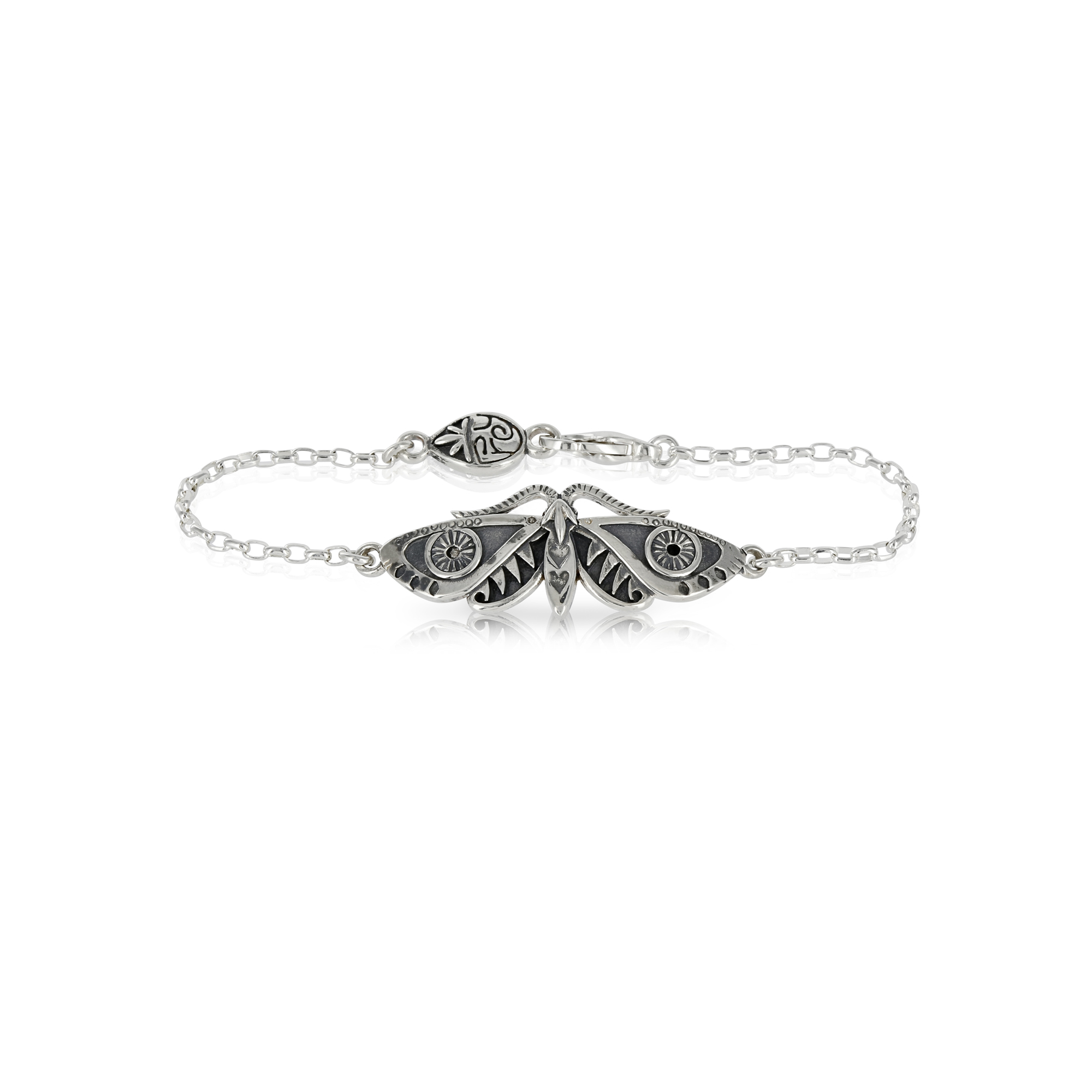 Silver Moth Bracelet by Prey Jewellery