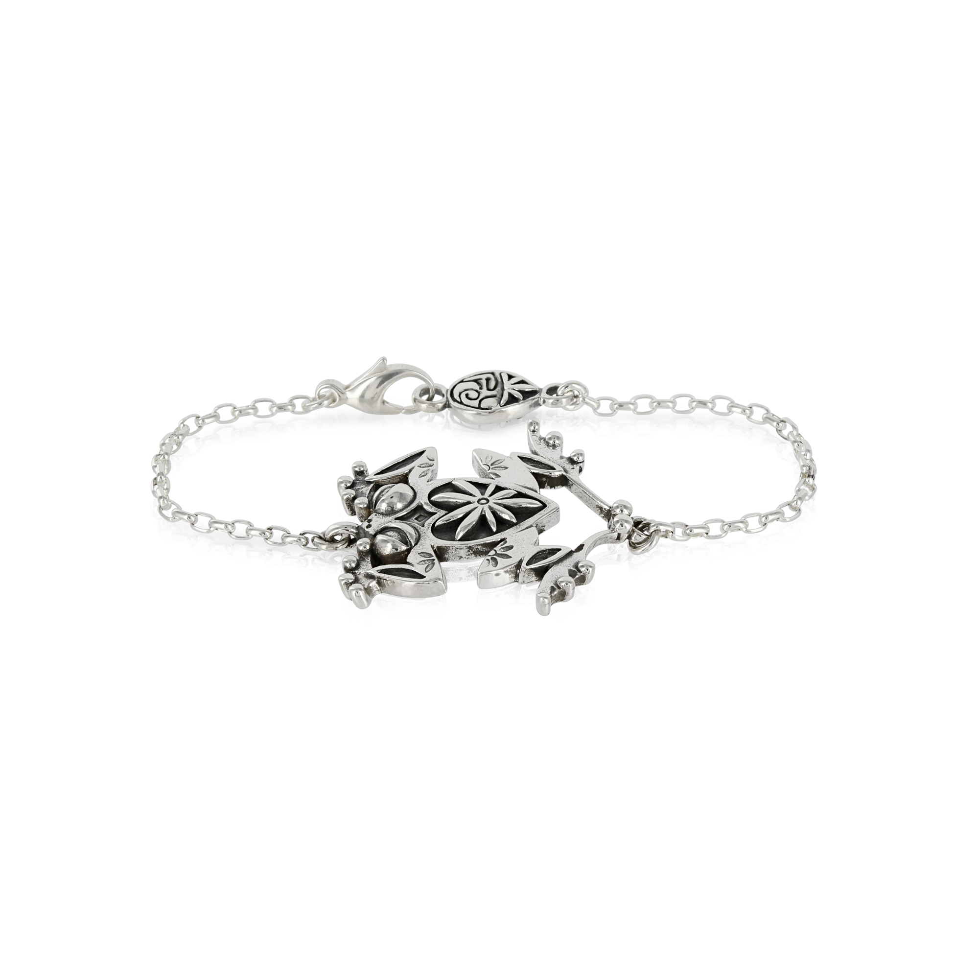 Silver Frog Bracelet by Prey Jewellery
