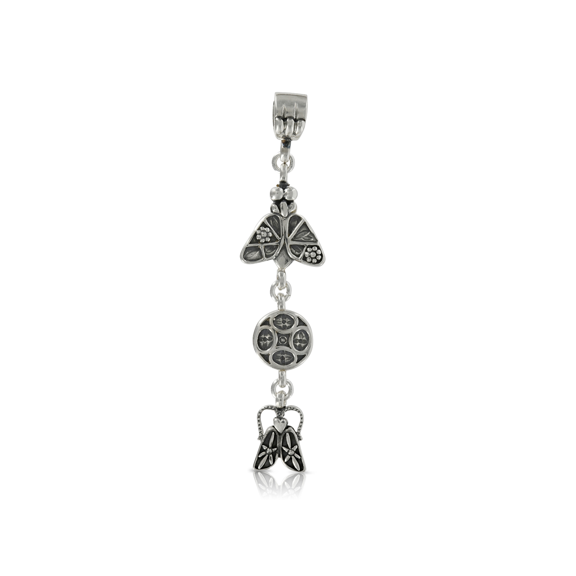 Silver Fly and Bug Pendant by Prey Jewellery