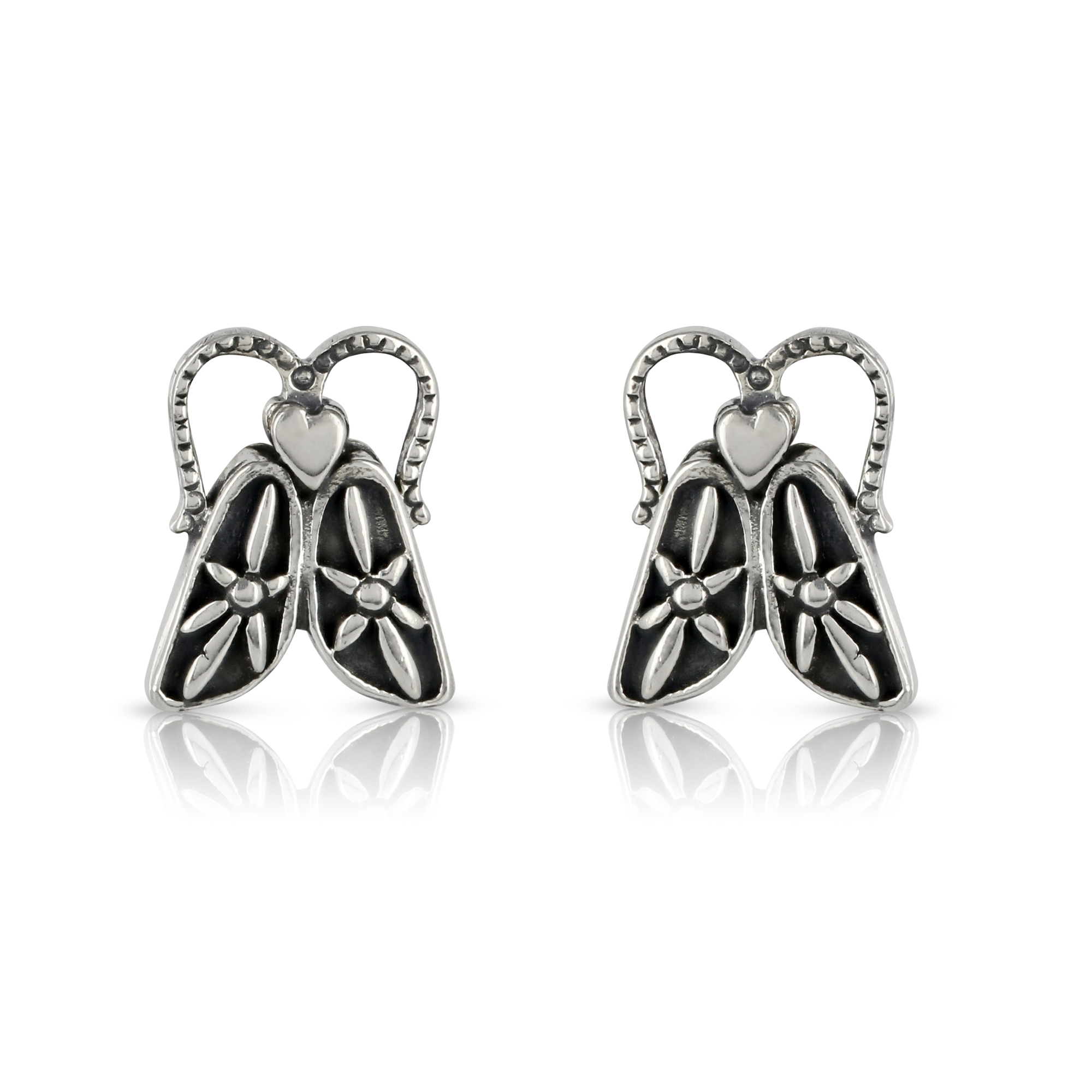 Silver Bug Stud Earrings by Prey Jewellery