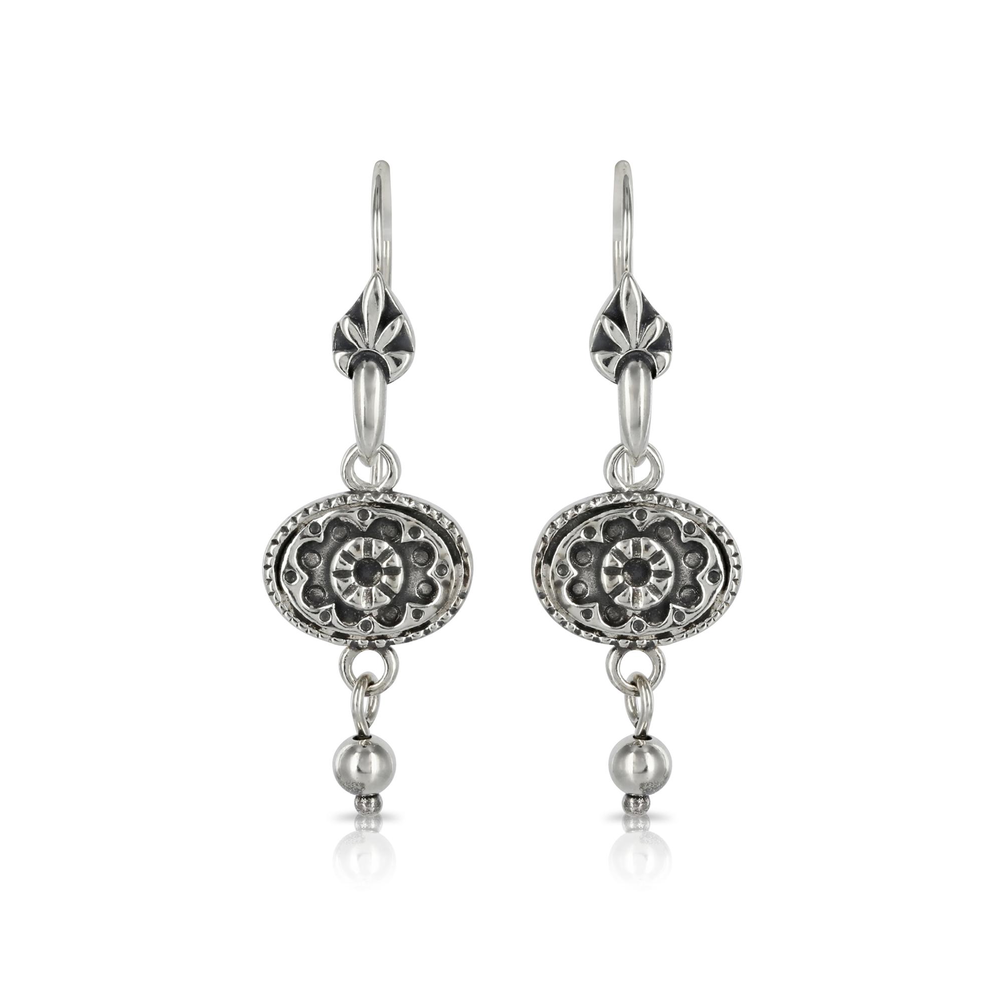 Silver Oval Earrings by Prey Jewellery