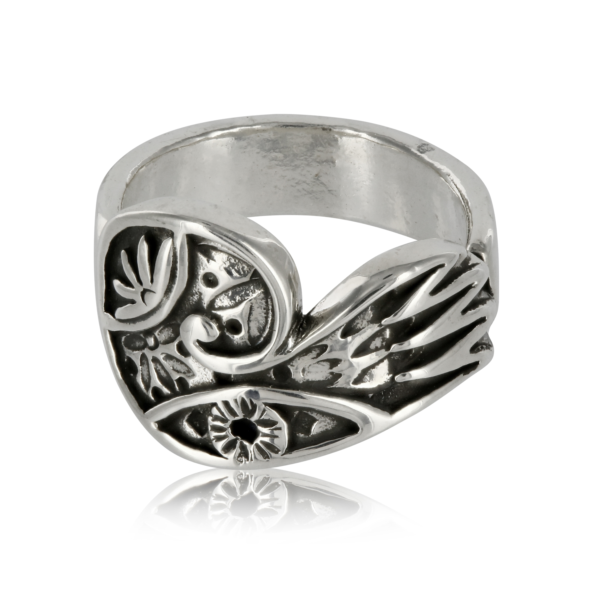 Silver Wing Ring by Prey Jewellery