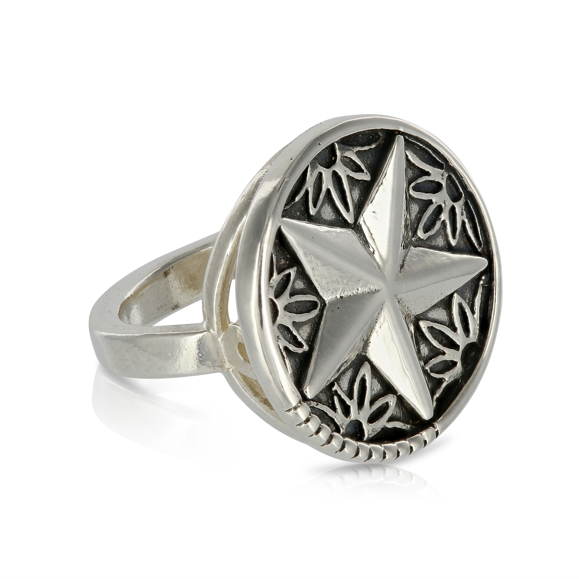 Silver Star Ring by Prey Jewellery