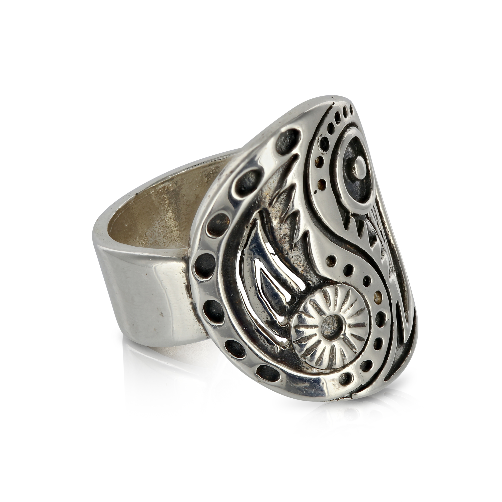 Silver Yin Yang Ring by Prey Jewellery