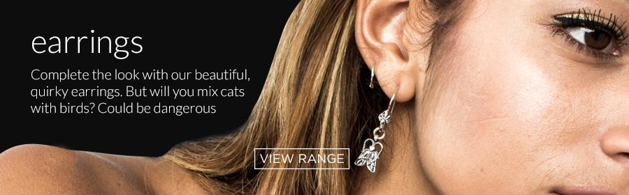Solid sterling silver earrings by Prey Jewellery