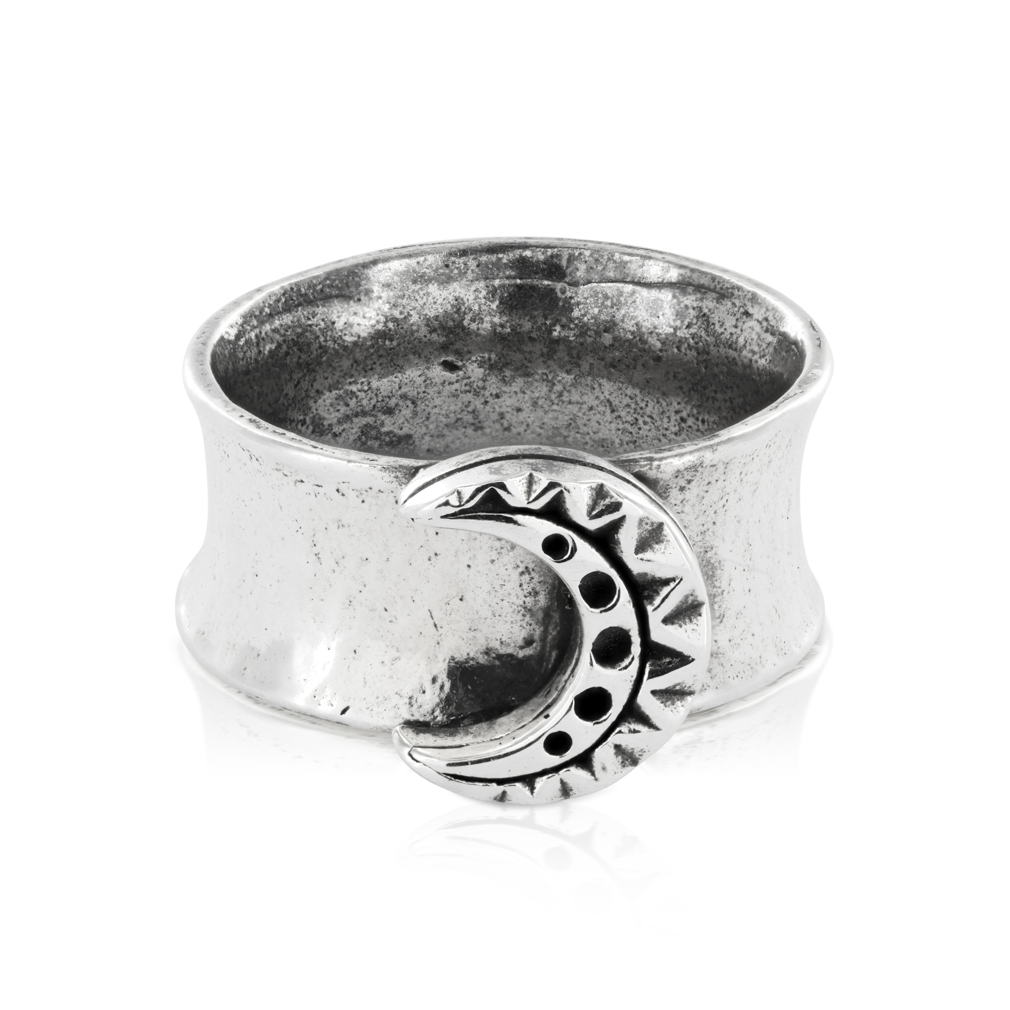 large ring of indian empowerment moon stone for womens rings women product